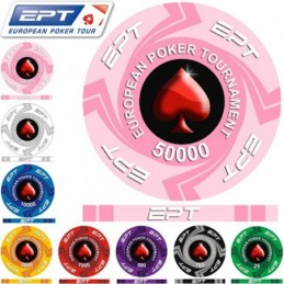 100 Fiches 11,5 g DICE Colore Rosso RED in Blister