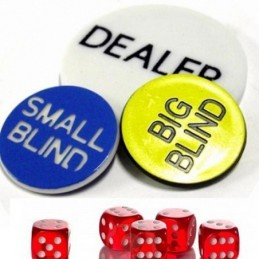 12x Dealer Button - Gettone Segna Dealer da 5 cm - Offerta