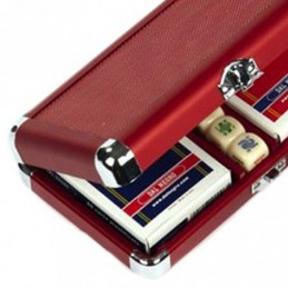 Luxury Poker Set in Legno 200 Fiches 14 g e 2 Mazzi Carte CARTAMUNDI
