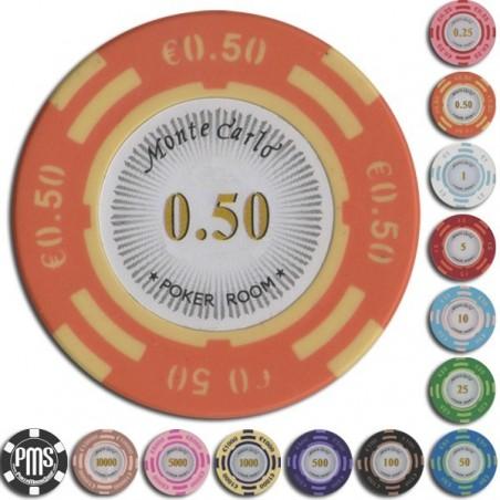 Fiches / Chips Poker MONTECARLO 0.50 euro