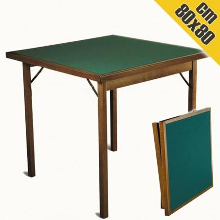Tavolo da Gioco in Legno CLASSIC 80x80 cm Pieghevole