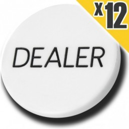 12x Dealer Button - Gettone...