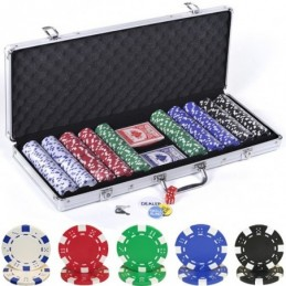 Set in Valigetta 500 fiches da 11,5 gr in 5 colori mod. Dice