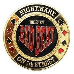 "Card Guard ""Bad Beat"" Oro"