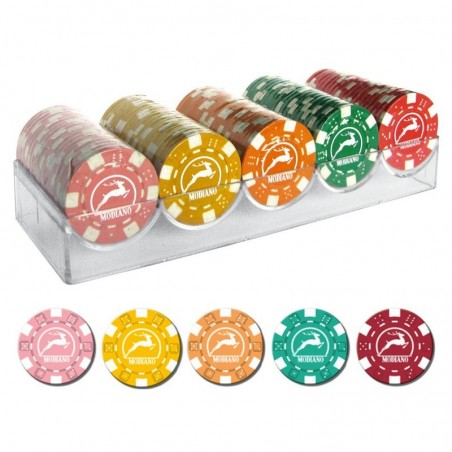 100 Chips 14g senza valore 5 colori A Texas Hold'em Modiano