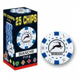 25 Chips 11,5g Bianco Texas...