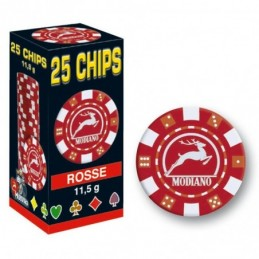 25 Chips 11,5g Rosso Texas...