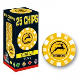 25 Chips 11,5g Giallo Texas...