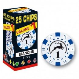 25 Chips 11,5g Bianco...