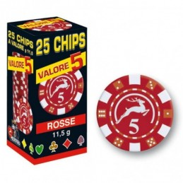 25 Chips 11,5g Rosso VALORE...