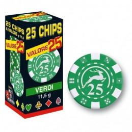25 Chips 11,5g Verde VALORE...