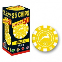 25 Chips 11,5g Giallo...