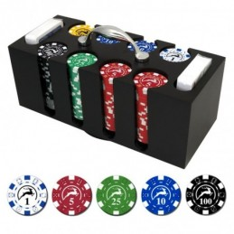 COIN box Wooden 200 Chips...