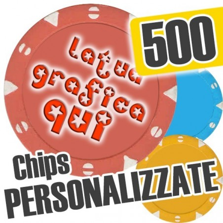 Set 500 Fiches Chips mod. MILANO Personalizzate