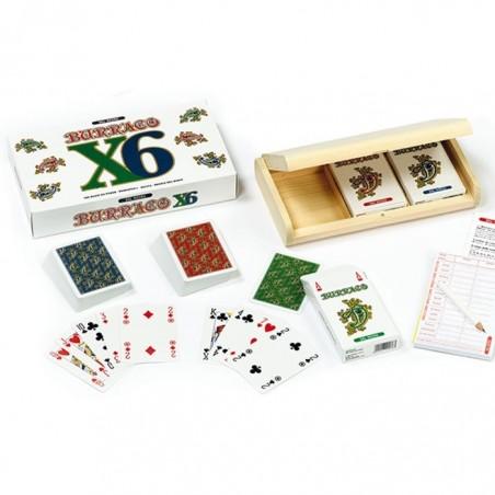 Confezione Legno 3 Mazzi BURRACO per 6 Giocatori Dal Negro