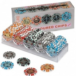 100 Chips COLOURED 14.5 gr...