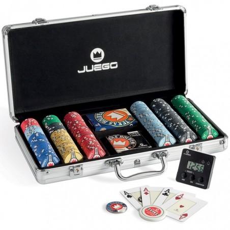 Valigetta PRO CERAMIC 300 Chips + Carte + Timer + Button JUEGO