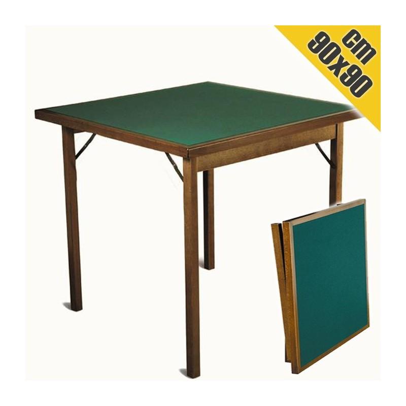 Tavoli Con Gambe Richiudibili.Tavolo Da Gioco Con Gambe Pieghevoli 90x90 Legno Poker Burraco Ramino