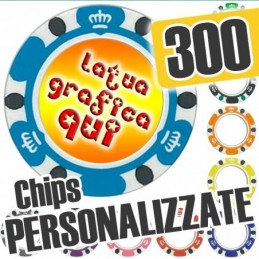Set 300 Fiches Chips mod....