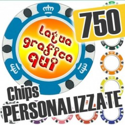 Set 750 Fiches Chips mod....