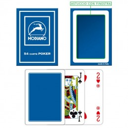 Carte Burraco F/N Blu Modiano