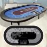Table PROFESSIONAL Poker 240x120 folding legs BLACK cloth