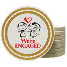 100 Wedding Poker Chips in...