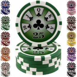 Fiches / Chips Poker ROYAL 14 gr - Valore 25